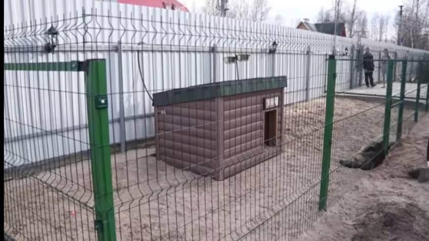Вольер для лабрадора (щенка) в частном доме